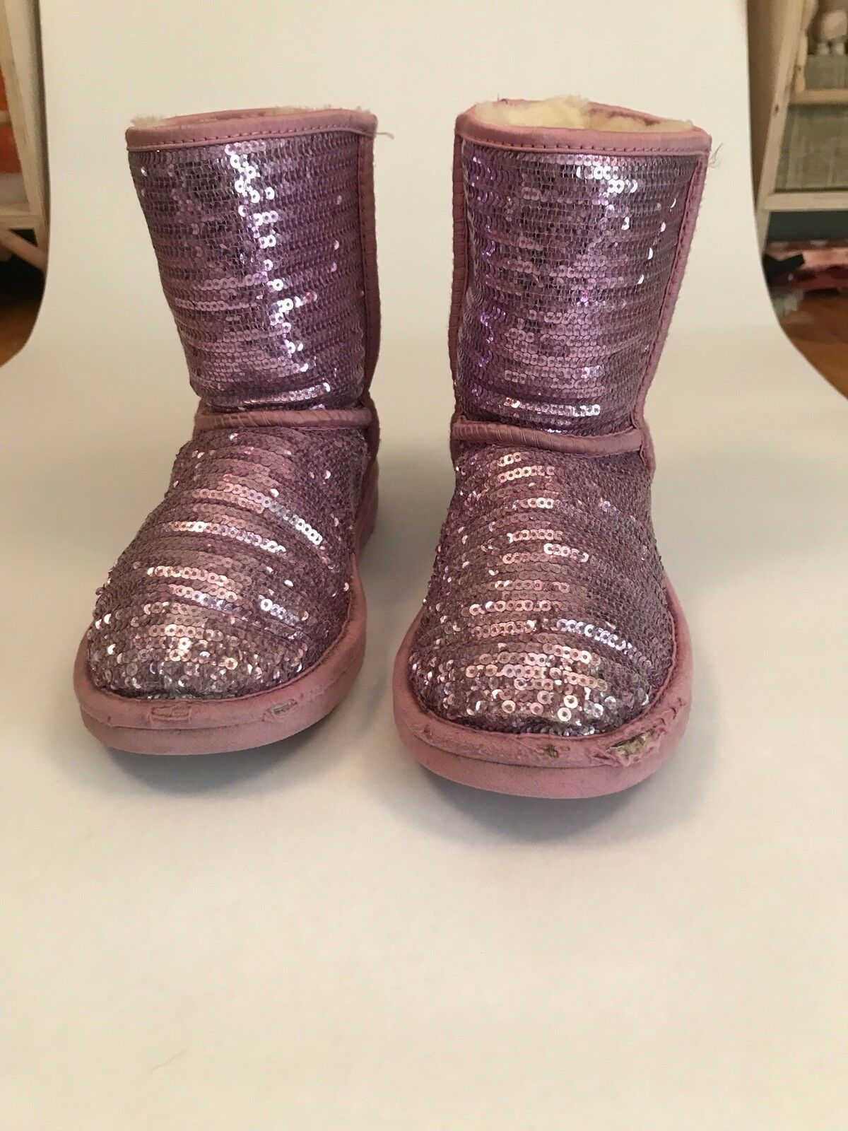 Gyerekek Rózsaszín Sequin Ausztrál Ugg Rózsaszín Sequin Ausztrál Boots Size  3 dfc33e1deb