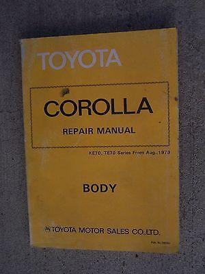 1979 Toyota Corolla Auto Corpo Manuale Manutenzione Riparazione More Toyota In U Avere Una Lunga Posizione Storica