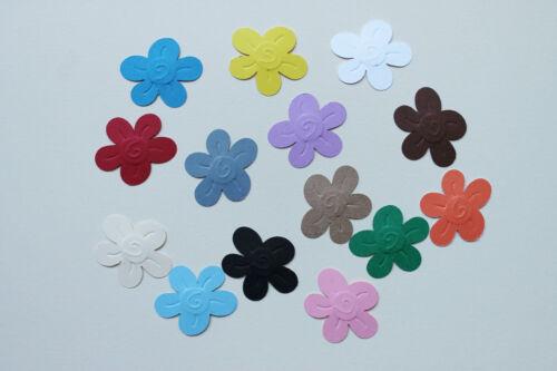 Embossed Flowers Paper  Die Cuts Scrapbooking 40PC NOT a DIE