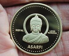 Nepal Buddha Gold Plated Coin 尼泊尔 佛祖 镀金 纪念币
