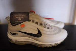 Details about Nike Air Max 97 OG OFF WHITE AJ4585 100 Size 9 100% Authentic