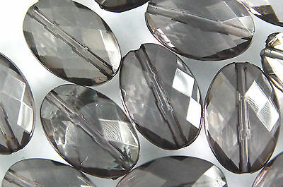 CRYSTAL CLEAR~OVAL~FACETED~ACRYLIC BEADS~CHOOSE COLOUR~AND~PACK SIZE,15 x 10 MM