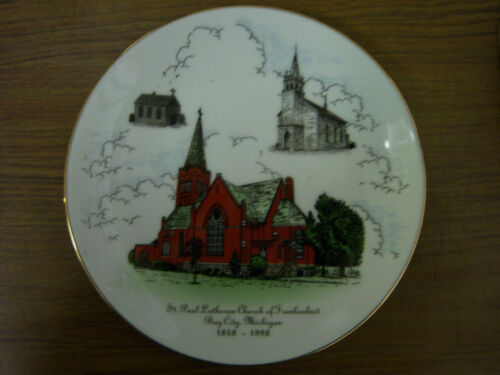 VINTAGE PLATE 18481998 St Paul LUTHERAN CHURCH of Frankenlust Bay City MICHIGAN