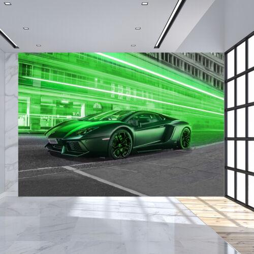 Fototapete Vlies und Papier Tapete Auto Sport Lamborghini Aventador Sportwagen