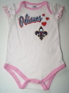 Details About Nba New Orleans Pelicans Baby Girl Bodysuit Pink 6 9 Mos Nwot