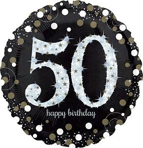 HOLOGRAPHIC-SPARKLING-AGE-50-BIRTHDAY-18-034-45CM-FOIL-BALLOON-BIRTHDAY-PARTY-S
