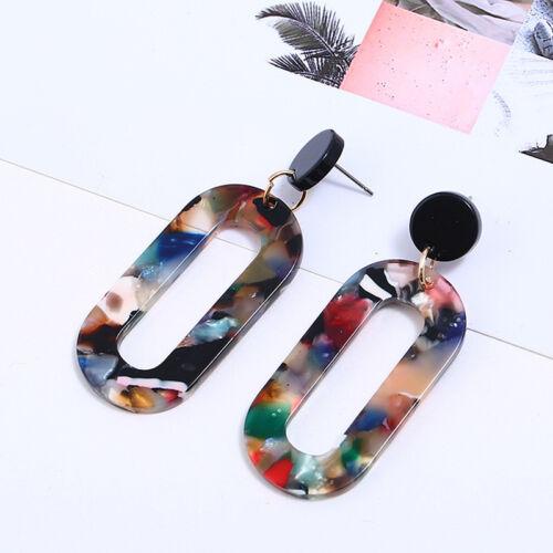 Ethnique Style Pendantes Rond Creux Rectangle Shape Boucle d/'oreille Pour de meilleurs amis Shan