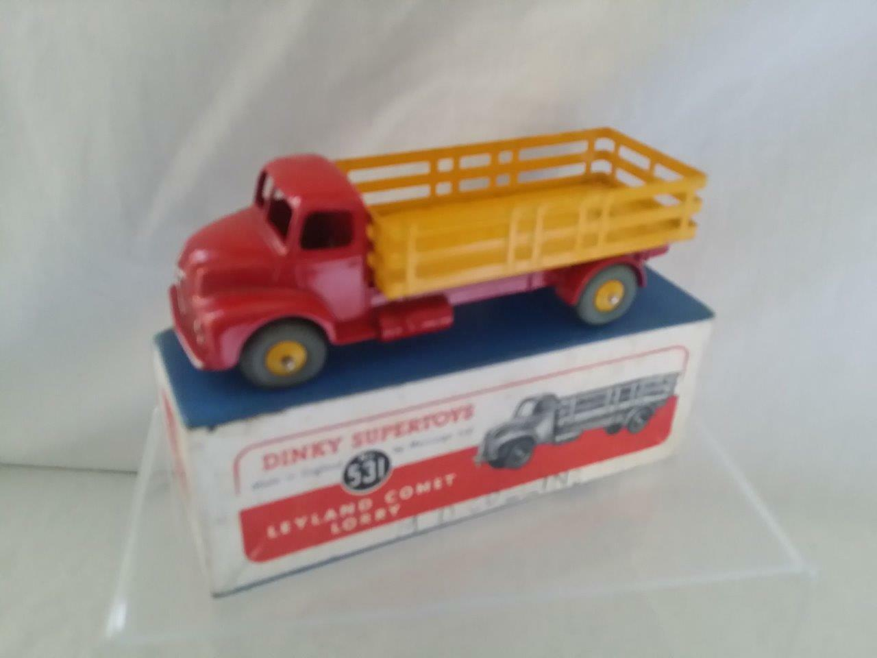 DINKY 531 LEYLAND COMET STAKE LORRY RED YELLOW EXCELLENT ORIGINAL BOXED