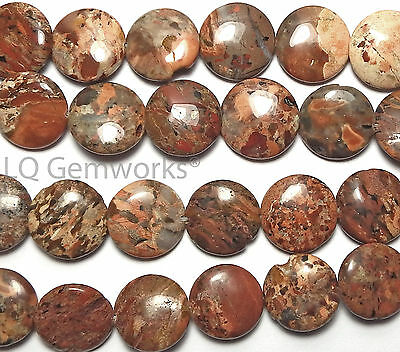 """16"""" Strand Brecciated Jasper 16mm Coin Beads Natural For Sale Other Beads & Jewelry Making Beads & Jewelry Making"""