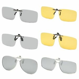 Driving-Clip-on-Sunglasses-UV-Polarized-Transition-Photochromic-Shades-Outdoor