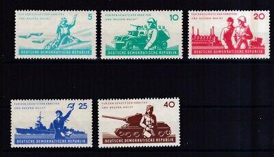Motive 876-880 6 Jahre Nationale Volksarmee Exquisite Traditionelle Stickkunst Sammlung Hier Ddr 1962 Postfrisch Minr