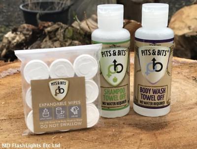 Pozzi & Bits Senz'acqua Shampoo & Body Wash Kit Bushcraft Campeggio Trekking-mostra Il Titolo Originale Materiali Di Alta Qualità Al 100%