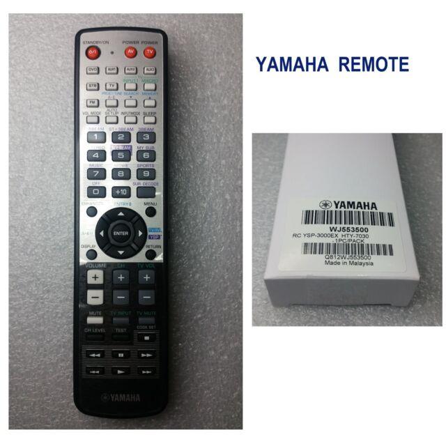 Yamaha Remote for YSP-3000EX, YSP-4000, HTY-7030, HTY-7040 WJ55350
