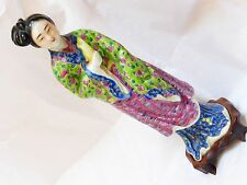 """antique vintage Chinese Porcelain figurine, marked on the bottom, 8.5"""" tall"""