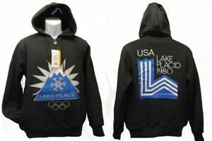 Neuf-Lake-Calme-Ny-USA-Hiver-Olympiques-1980-Hommes-Tailles-S-M-L-Licence-Sweat