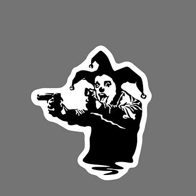 Banksy Clown Wall Decal Removable Sticker Vinyl Decor Art Transfer Joker Guns