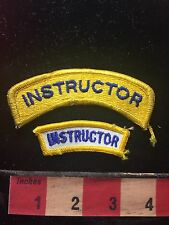 Tab Patch INSTRUCTOR (Teacher Trainer) Lot Of 2 Patches  73X4