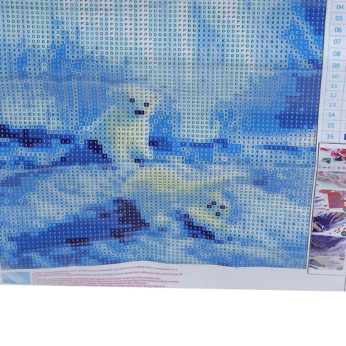 Diy 5D Cross Stitch Square Full Drill Diamond Beauty Aurora Polar Bear 8C