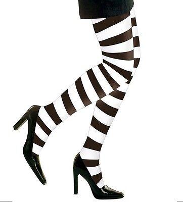 Sexy Damen Strumpfhose Ringelstrumpfhose 70den Schwarz/weiss Karneval & Fasching Neue Sorten Werden Nacheinander Vorgestellt