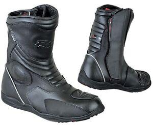 Stivale-Scarpa-Moto-Custom-Touring-Sport-Impermeabili-Pelle-Scooter-Enduro-3M-CE