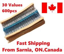 600pcs 30 Values 14w 1 Metal Film Resistors Resistance Assortment Kit Set