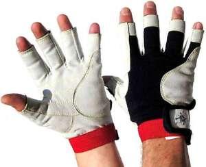 BluePort Segelhandschuhe Rinderleder Gr XL 10 fingerlos Rigger Gloves