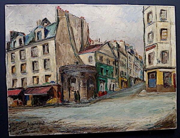 -szene Rue Parisienne Paris Unterzeichnet Mit Lechevrel Xx Um 1960 Reich Und PräChtig