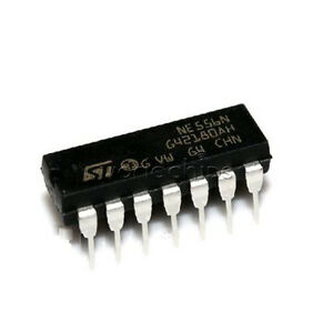 5PCS-NE556N-DIP-14-200mA-RoHS-556-Dual-Timer-IC-4-Pack-DIP14