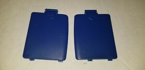 NEW-SET-PAIR-OF-BLUE-BATTERY-COMPARTMENT-COVERS-LIDS-for-The-SEGA-GAME-GEAR-G24