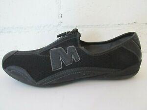 MERRELL Women's Arabesque Black Zippered Shoes  Sz 8.5