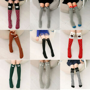 Baby-Kids-Toddlers-Girls-Knee-High-Socks-Tights-Leg-Warmer-Stockings-For-Age3-12