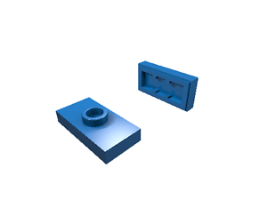 blau neu 15573 LEGO Konverterplatte 1 x 2 mit Griffrille 40 x