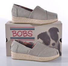 Skechers Bobs Wedge Espadrille Shoe Women's 7 Med Taupe Memory Foam 34101