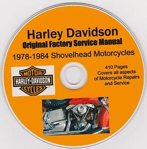 harley davidson shovelhead original factory shop repair manual 1978 rh ebay com harley davidson shovelhead repair manual free download Harley Davidson Ironhead