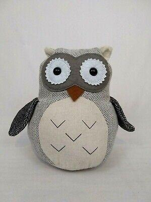 Owl Weighted Door Stop Stopper Fabric Stuffed Brown Tan Black Aldi 2 6 Lb 8 Ebay