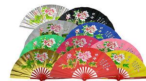 Kung-Fu-Tai-Chi-Martial-Arts-Fighting-Dance-Training-Equipment-Bamboo-Peony-Fan