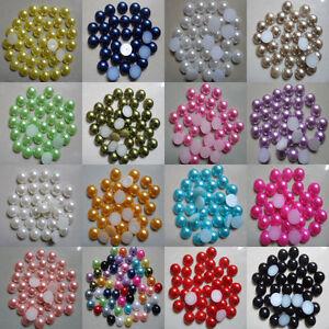 2000pcs-Multicolor-Half-round-Flatback-Acrylic-Pearl-Beads-For-Decoration-Craft