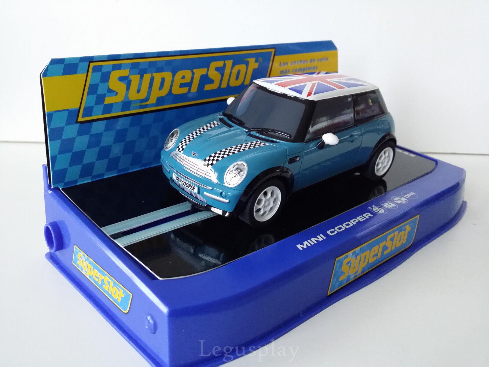Slot SCX Scalextric Superslot H2992 Mini Cooper Road Car Azul