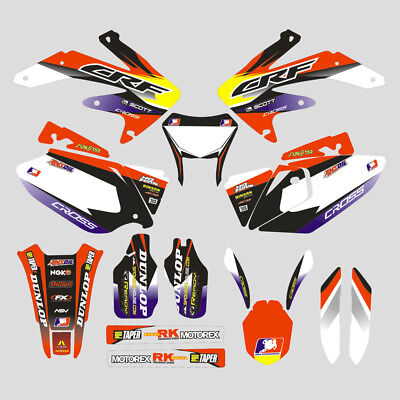 Customized Full Graphic Decals Kit Sticker For CRF450X 2008-2016 Motocross