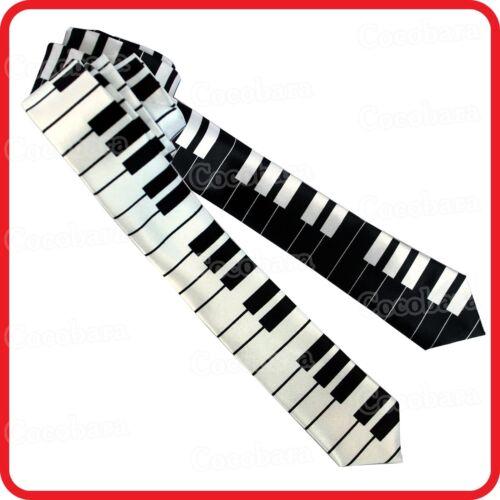 PIANO KEYS KEYBOARD LEVERS SKINNY NECKTIE TIE-MUSIC-MUSICIAN-COSTUME-PARTY-1