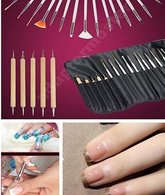New 20pcs Nail Art Design Painting Dotting Pen Brushes Tool Set / Nail Kit