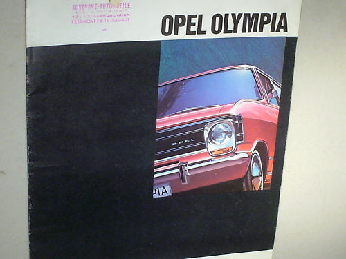 Beau Catalogue Opel Olympia /coupe Fastback / Berline