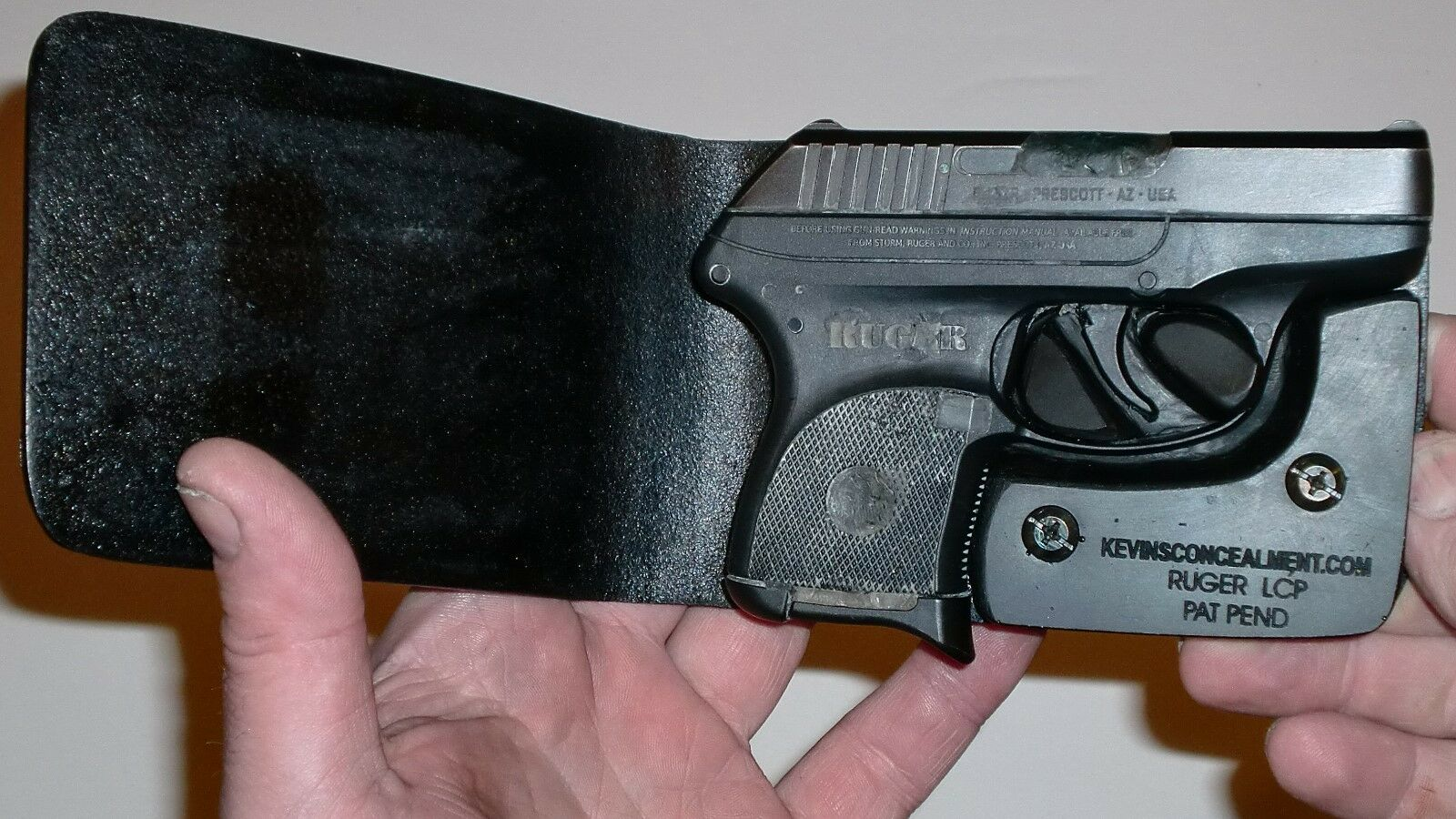Wallet Holster For Full Concealment - Ruger LCP - Kevin's Concealment