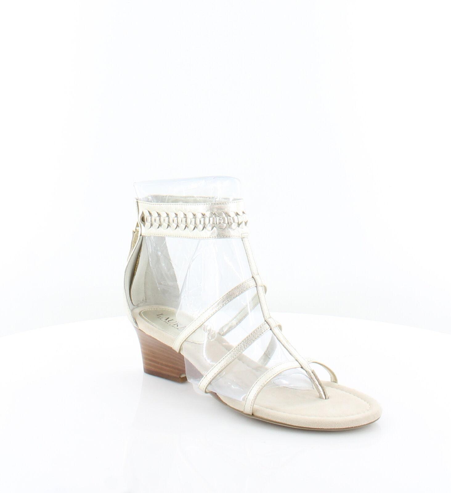 Ralph Lauren Nuevo Meira Metálico Mujer Mujer Mujer Zapatos Talla 7.5 M Sandalias precio minorista sugerido por el fabricante  129  punto de venta en línea