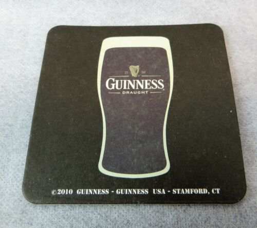 Guinness Draught 5 Paper Coasters New  Beer Bar Supplies Man Cave