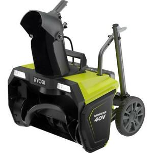 Ryobi Ry40840 20 In 40 Volt Brushless Cordless Electric Snow Blower