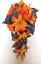 17-piece-Wedding-Bouquet-Bridal-Silk-Flowers-Bouquets-ORANGE-LILY-PURPLE-PLUM thumbnail 2