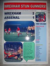 Wrexham 2 Arsenal 1 - 1992 FA Cup - souvenir print