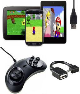 Sega Usb Otg Retro Controller Game Pad For Pc Mac Android Tablet