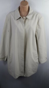WOMENS-COLLECTION-DEBENHAMS-CREAM-BUTTON-UP-LIGHTWEIGHT-TRENCH-COAT-SIZE-UK-18